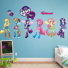 Fathead Hasbro My Little Pony Equestria Kids Peel And Stick Wall Decal My Little Pony Bedding My Little Pony Bedroom Hasbro My Little Pony