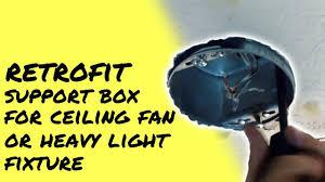 ceiling fan retrofit junction box