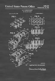 Lego Brick Patent Patent Print Wall Decor Lego Building Block Lego Poster Mypatentprints Com