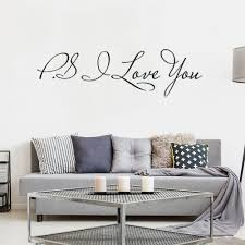 Ps I Love You Wall Art Decal Home Decor Famous Inspirational Quotes Living Room Bedroom Removable Wall Stickers 58 15cm Buy At The Price Of 2 70 In Aliexpress Com Imall Com