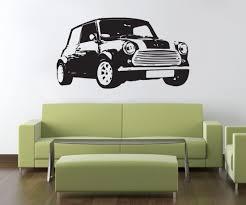 Mini Car Wall Sticker Decal Stencil Silhouette St119 Decalz Co