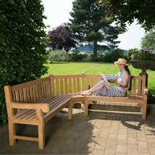 a large 7 seater teak garden bench in
