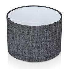 monza charcoal linen mix drum lampshade