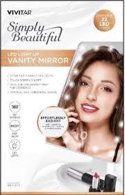 vivitar lighted 22 led vanity mirror