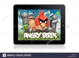 Angry birds game on ipad - white backrgound Stock Photo - Alamy