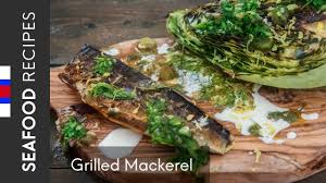 Grilled Mackerel fillets & spring ...