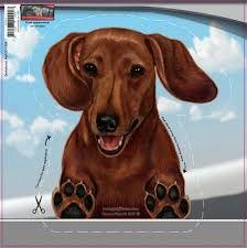 Dachshund On The Move Car Window Decal The Doxie Boutique
