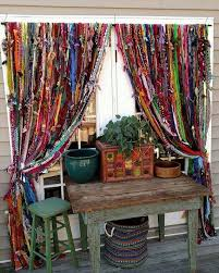 bohemian hippie handmade curtains