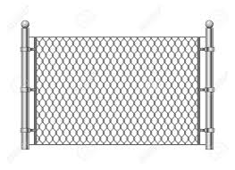 Metal Chainlink Fence Vector Steel Linked Chains Fencing Enclosure Royalty Free Cliparts Vectors And Stock Illustration Image 124779916