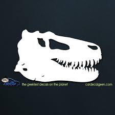 T Rex Dinosaur Skull Car Decal Graphic Window Decals