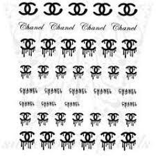 Nail Art Dripping Cc Logo Nail Water Decals