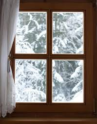 Window With Snow Covered Trees Wall Decal Wallmonkeys Com