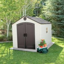 8 ft x 10 ft outdoor storage shed