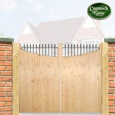 wood wooden timber estate driveway gate
