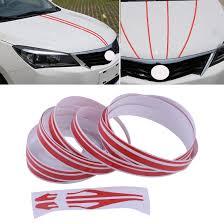12mm Red Car Striping Sticker Double Line Pinstripe Vinyl Decal Streamline Tape Ebay