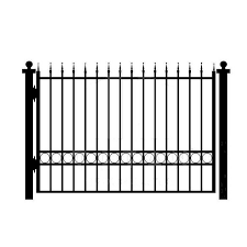 House Gates Design Garden Black Iron Fence Panels Outdoor Metal Fence