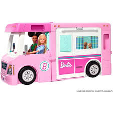 Barbie Estate 3 In 1 Dreamcamper Vehicle With Pool Truck Boat And 50 Accessories Walmart Com Walmart Com