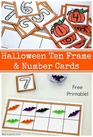 ten frame number cards printable