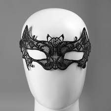 bat lace face makeup mask