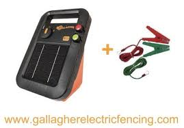 Gallagher S10 Solar Electric Fence Charger Leads 1 Joule 5 Acre Gallagher Electric Fencing From Valley Farm Supply