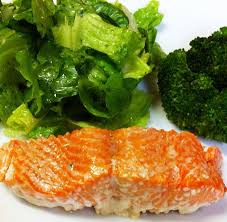 oven baked salmon with olive oil and