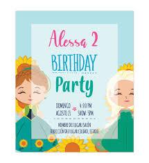 Invitacion Ana Y Elsa Verano Disenos Digitales Personalizados