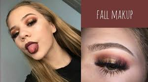 fall makeup tutorial brown smokey eye