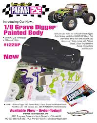 Parma Pse 1 8 Grave Digger Painted Body W Decals