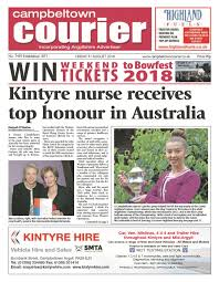 """Royal Flying Doctor on Twitter: """"#Rfdswa flight nurse Myra Graham has made  the front page of her hometown's local paper in the UK!! Huge  congratulations to our star Myra, a former Campbeltown"""