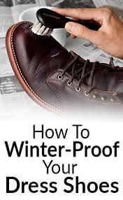 how to winter proof shoes protect