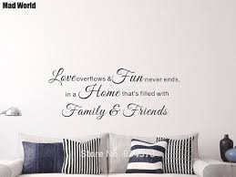 Mad World Love Family Fun Never Ends Friends Wall Art Stickers Wall Decal Home Diy Decoration Removable Room Decor Wall Stickers Wall Sticker Decorative Wall Stickerswall Art Stickers Aliexpress