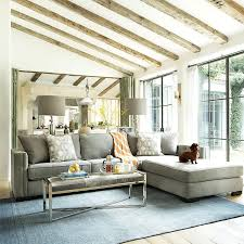 gray couch with chaise lounge