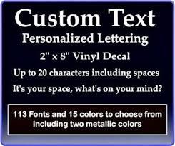 Custom Text Vinyl Decal Personalized Lettering Window Laptop Yeti Cup Sticker 4894644561326 Ebay