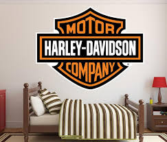 Harley Davidson Logo Wall Decal Motorcycle Wall Decal In Texas Egraphicstore