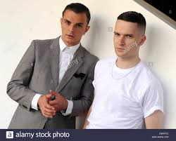 English musicians Adam Anderson (L) and Theo Hutchcraft of the ...