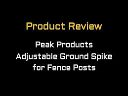 Product Review Peak Adjustable Ground Spike Youtube