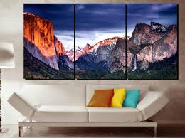 Yosemite National Park Sunset Large Canvas Art Yosemite Valley Wall Art El Capitan Sunset Wall Art Yosemite El Capitan Art Yosemite Wall Art