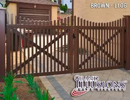 Grand Illusions Color Vinyl Fence Color Spectrum And Wood Grain Vinyl Fence