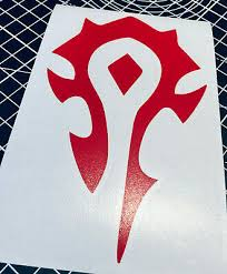 World Of Warcraft Horde Vinyl Decal Sticker More Colours 2 45 Picclick Uk