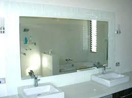 bathroom mirrors frameless