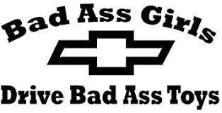 Amazon Com Bad Ass Girls Chevy Decal Sticker Sticker Graphic Auto Wall Laptop Cell Truck Sticker For Windows Cars Trucks Automotive