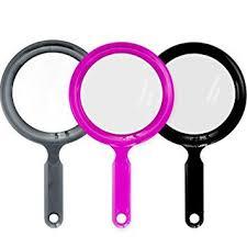 salon care round 2 sided hand mirror