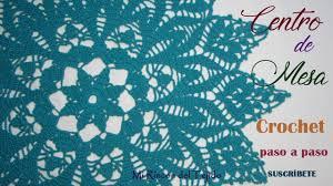 o tejer centro de mesa crochet paso