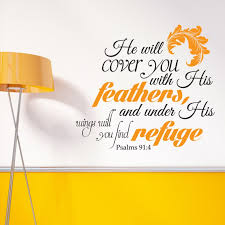 Psalms 91 4 He Will Cover You Scripture Wall Decal