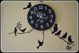 Dreamandcraft My Little Shop In Etsy Black Birds Wall Decal On Clock Peel Off Vinyl Stickers Home Decor Etsy Dreamandcraft