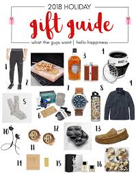 my 2018 gift guides what the guys