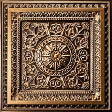 antique gold faux metal ceiling tiles