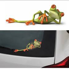 2019 New Arrival 3d Frogs Funny Car Stickers Car Styling Vinyl Decal Sticker Decoration High Temperature Amp Water Proof From Mymother010 5 22 Dhgate Com