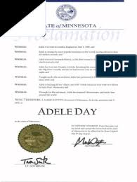 Adele: State Minnesota