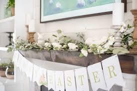 spring mantel decor easter decor